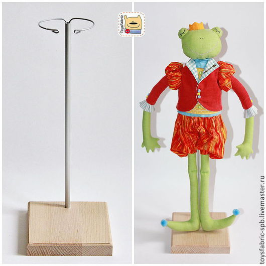 Куклы и игрушки ручной работы. Ярмарка Мастеров - ручная работа. Купить Подставка для кукол 12см из бука деревянная с держателем (3Б12Х12Р). Handmade.