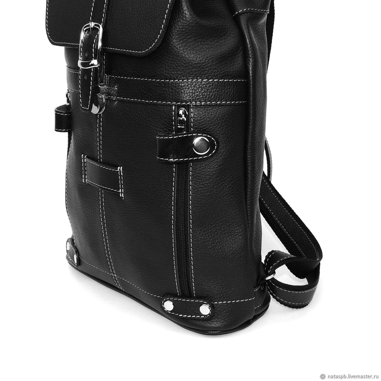 90e2b8b88555 ... Рюкзаки ручной работы. Черный кожаный рюкзак 'Ночь'. Калиновская  Наталья Рюкзаки Сумки. ...