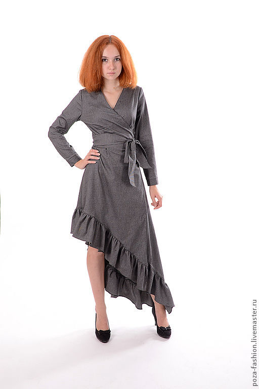 """Платья ручной работы. Ярмарка Мастеров - ручная работа. Купить Платье """"Баланс"""". Handmade. Серый, деловое платье, осенняя мода"""