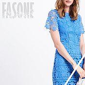 Одежда handmade. Livemaster - original item dresses: Blue dress lace