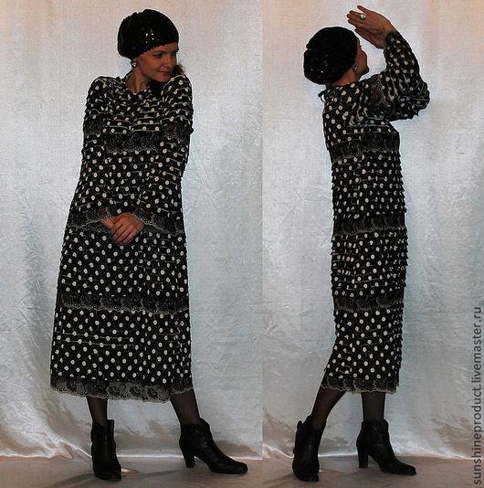 """Платья ручной работы. Ярмарка Мастеров - ручная работа. Купить Платье """"Изысканный тон"""". Handmade. В горошек, платье романтичное"""