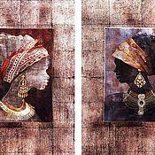Картины и панно ручной работы. Ярмарка Мастеров - ручная работа этно-диптих. Handmade.
