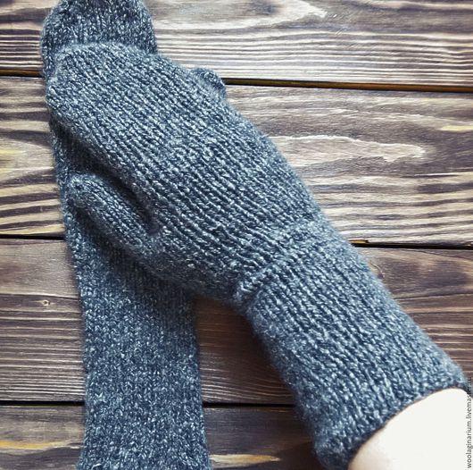 Варежки, митенки, перчатки ручной работы. Ярмарка Мастеров - ручная работа. Купить Варежки из кашемира. Handmade. Темно-серый