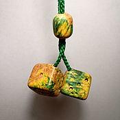 """Сувениры и подарки handmade. Livemaster - original item Подвеска в автомобиль """"Кубики"""" из стабилизированного дерева. Handmade."""