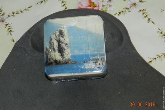 Мыло ручной работы. Ярмарка Мастеров - ручная работа. Купить мыло с картинкой. Handmade. Мыло сувенирное, морская волна