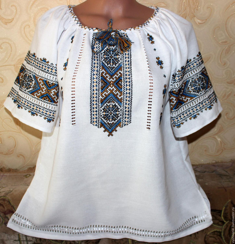 Этническая одежда ручной работы. Ярмарка Мастеров - ручная работа. Купить Вышиванка  ручной работы для ... 23abb5f950e38