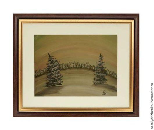 """Пейзаж ручной работы. Ярмарка Мастеров - ручная работа. Купить Картина """"Зимнее утро"""". Handmade. Лес, картина в подарок, художник"""