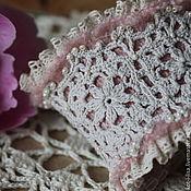 Украшения ручной работы. Ярмарка Мастеров - ручная работа Браслет манжета в стиле бохо шебби шик текстильный. Handmade.