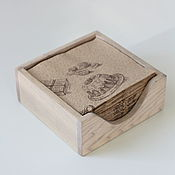 Для дома и интерьера handmade. Livemaster - original item Wooden napkin holder for kitchen and restaurant. The colors Chalk (white). Handmade.