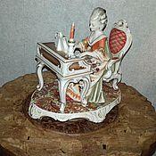 Винтаж ручной работы. Ярмарка Мастеров - ручная работа Статуэтка Дама играет на фортепиано Bristolia. Handmade.