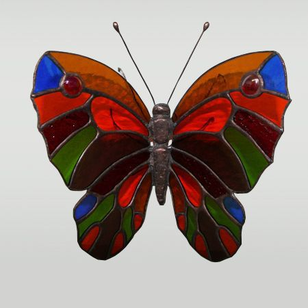 Украшения для цветов ручной работы. Ярмарка Мастеров - ручная работа. Купить Бабочка декоративная витражная. Handmade. Комбинированный, витражная бабочка