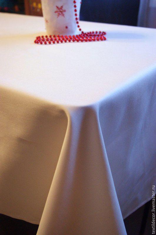 Текстиль, ковры ручной работы. Ярмарка Мастеров - ручная работа. Купить Скатерть прямоугольная. Handmade. Белый, прямоугольная скатерть, в гостиную