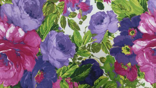 Ткань. Ткань для штор. Портьерная ткань. Прованс. Цветы. Шторы на заказ. Материалы для творчества.