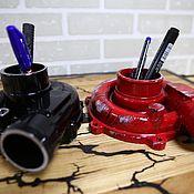 Карандашницы ручной работы. Ярмарка Мастеров - ручная работа Подставка из турбин под канцелярские принадлежности. Handmade.