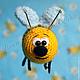 Игрушки животные, ручной работы. Пчелка Жужа. Светлана SMilосhka. Интернет-магазин Ярмарка Мастеров. Пчелка, подарок, малыш, амигуруми