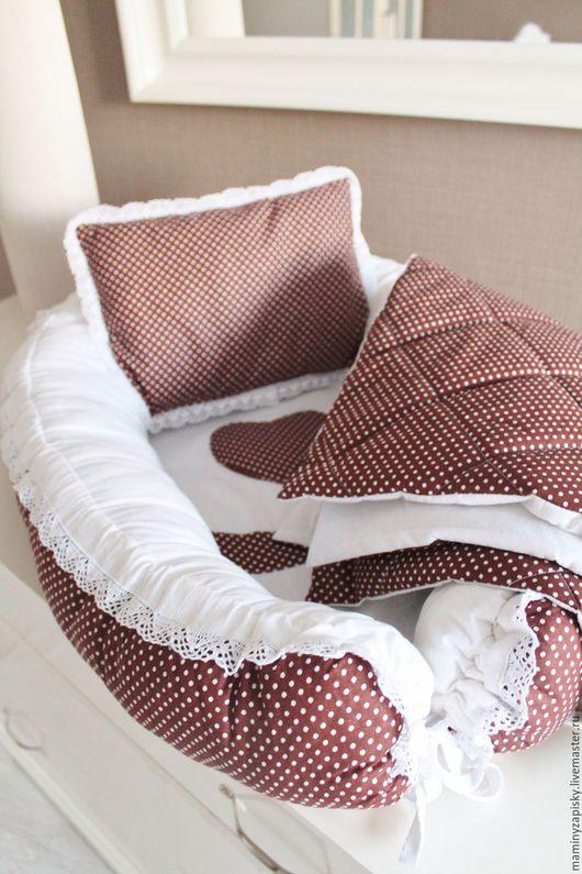 Для новорожденных, ручной работы. Ярмарка Мастеров - ручная работа. Купить кокон babynest+подушечка декоративная+одеяльце. Handmade. Babynest, малышам, коконы