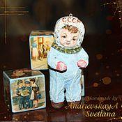 Куклы и игрушки ручной работы. Ярмарка Мастеров - ручная работа Елочная игрушка из ваты Юрочка. Handmade.