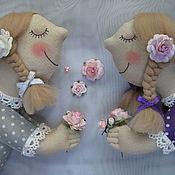 Мягкие игрушки ручной работы. Ярмарка Мастеров - ручная работа Цветочные ангелы. Handmade.