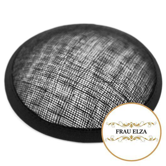 Другие виды рукоделия ручной работы. Ярмарка Мастеров - ручная работа. Купить Основа для шляпки синамей 11 см черная. Handmade.