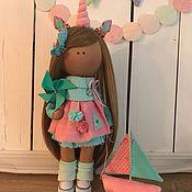 Куклы и игрушки ручной работы. Ярмарка Мастеров - ручная работа Интерьерная текстильная кукла малышка Единорожка. Handmade.