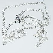 Материалы для творчества handmade. Livemaster - original item Chain with lock,silver 999 micron. Handmade.