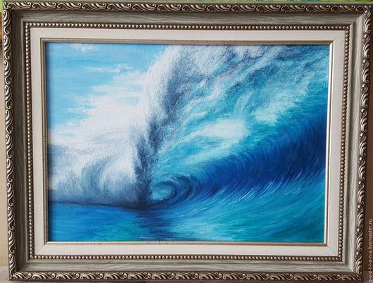 Пейзаж ручной работы. Ярмарка Мастеров - ручная работа. Купить На Тенерифе. Handmade. Волна, океан, масло, картина в подарок