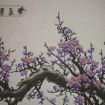 """Картины и панно ручной работы. Ярмарка Мастеров - ручная работа Вышивка крестом""""Ветка сакуры"""". Handmade."""