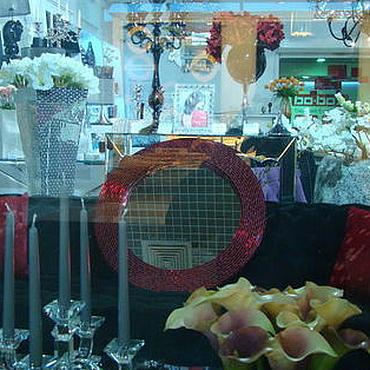Для дома и интерьера ручной работы. Ярмарка Мастеров - ручная работа Зеркало в мозаичной раме, сверкающий рубин. Handmade.