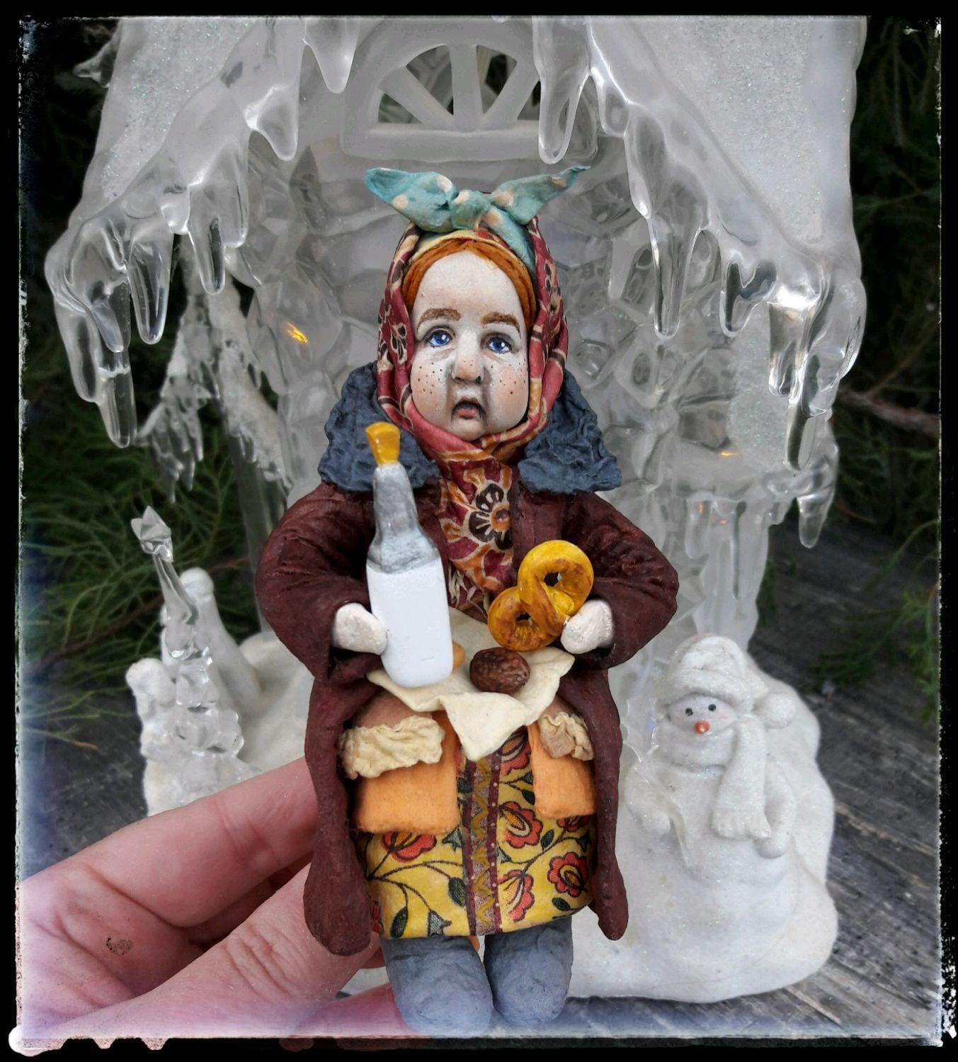 Ватная игрушка, коллекционная кукла Марфуша, Мягкие игрушки, Волгоград,  Фото №1