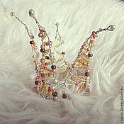 Украшения ручной работы. Ярмарка Мастеров - ручная работа Корона с бисером. Handmade.