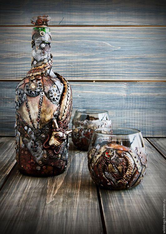 Бутылка и бокалы, набор для виски, подарок для мужчины game of thrones