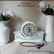 """Для дома и интерьера ручной работы. Ярмарка Мастеров - ручная работа набор """"Античный декор"""" белый. Handmade."""