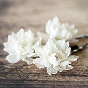 Свадебный салон ручной работы. Ярмарка Мастеров - ручная работа 717_Маленькие шпильки цветы айвори, Шпильки на свадьбу. Handmade.