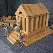 """Куклы и игрушки ручной работы. Ярмарка Мастеров - ручная работа Конструктор деревянный """"Юный Архитектор"""". Handmade."""