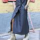 R00019 Длинное летнее платье модное платье в пол стильное серое платье свободное платье платье на запах платье на лето жилет сарафан длинный сарафан платье с карманами