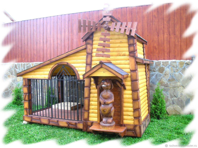Аксессуары для собак, ручной работы. Ярмарка Мастеров - ручная работа. Купить Будка вольер для собаки. Handmade. Будка, деревянные изделия