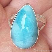 Украшения handmade. Livemaster - original item Ring with larimar,. Handmade.