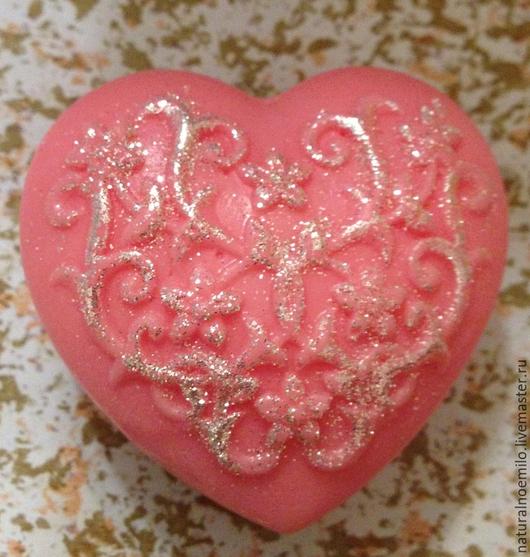 Мыло ручной работы. Ярмарка Мастеров - ручная работа. Купить Сердце. Handmade. Подарок, мыло ручной работы, коралловый