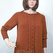 Одежда handmade. Livemaster - original item Women`s knitted sweater with a braid of Merino. Handmade.
