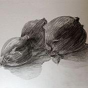 """Картины и панно ручной работы. Ярмарка Мастеров - ручная работа Графика """"""""Натюрморт"""". Handmade."""