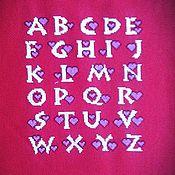 """Для дома и интерьера ручной работы. Ярмарка Мастеров - ручная работа Вышивка """"Алфавит"""". Handmade."""