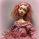 Коллекционные куклы ручной работы. Ярмарка Мастеров - ручная работа. Купить Malva. Handmade. Розовый, подвижная кукла, шерсть ламы