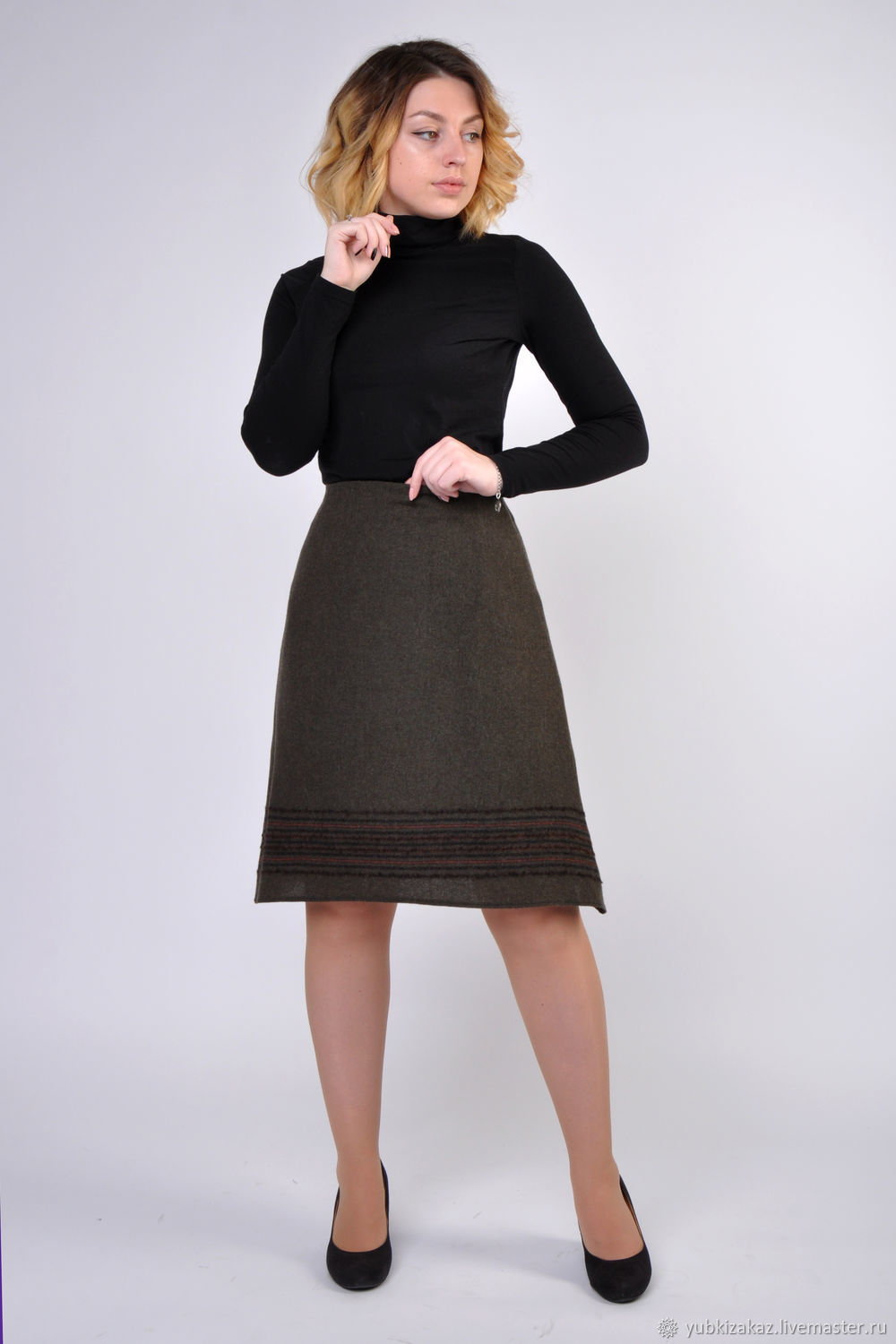The skirt is made of natural wool With the corners, Skirts, Novosibirsk,  Фото №1
