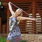 """Одежда ручной работы. Ярмарка Мастеров - ручная работа Платье """"Крестики-нолики"""". Handmade."""