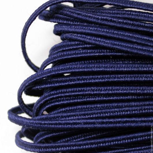 Для украшений ручной работы. Ярмарка Мастеров - ручная работа. Купить Сутаж белорусский 2,5мм темно-синий. Handmade.