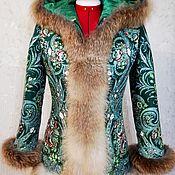 Куртки ручной работы. Ярмарка Мастеров - ручная работа Зимняя куртка с капюшоном «Великолепный изумруд». Handmade.