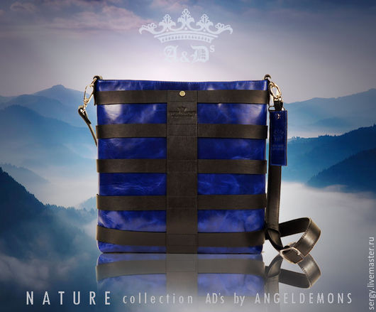 Женские сумки ручной работы. Ярмарка Мастеров - ручная работа. Купить Сумка Blue Line. Handmade. Тёмно-синий