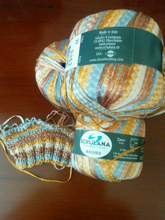 Вязание ручной работы. Ярмарка Мастеров - ручная работа. Купить Пряжа для вязания. Handmade. Пряжа, пряжа для вязания спицами, акрил