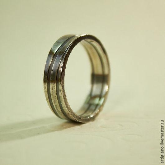 Кольца ручной работы. Ярмарка Мастеров - ручная работа. Купить Стильное мужское кольцо. Handmade. Рустик, рустикальный стиль
