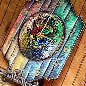 """Часы классические ручной работы. Ярмарка Мастеров - ручная работа Часы настенные """"Гарри Поттер"""". Handmade."""